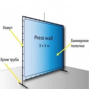 Фото - 3 Press wall 3 х 3 метра